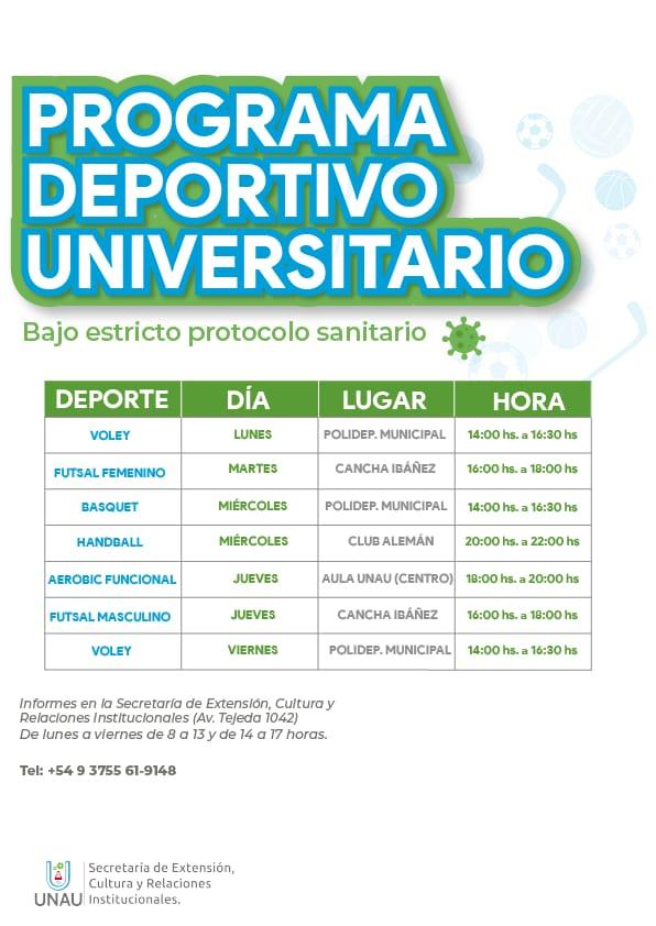 Programa Deportivo Universitario.