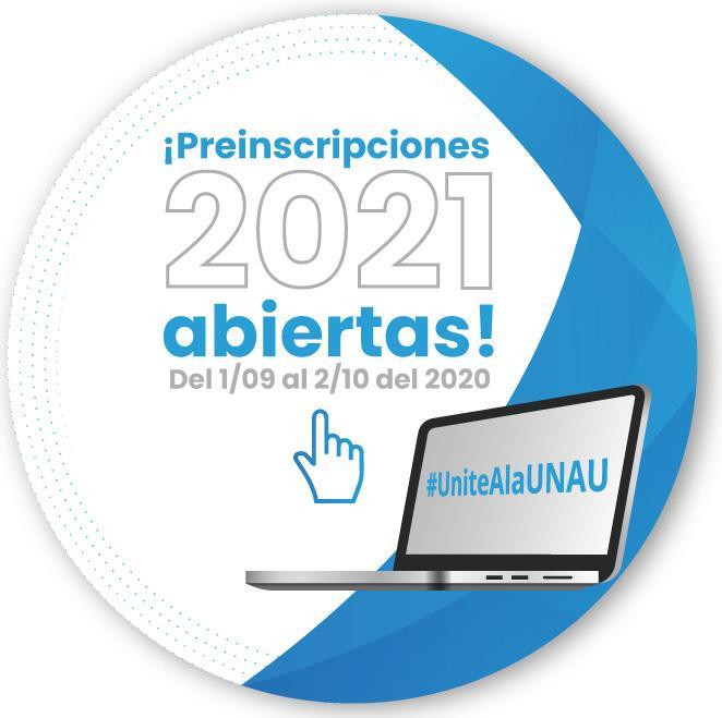 Preinscripciones abiertas 2021 popup